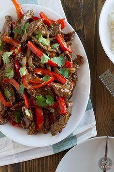 Weeknight Stir Fry - Steak Stir Fry Recipe with Peppers on tasteandtellblog.com