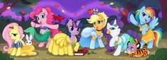 My Little Ponies as Disney Princesses by Katie Williamson