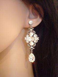 Vintage bridal earrings wedding earrings vintage by treasures570, $55.00