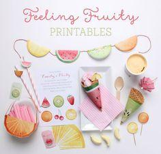 Imprimibles de frutas para una fiesta de verano