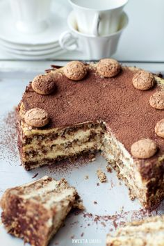 {Amaretti Cake with Coffee and Almonds} Torcik Amaretti - Przepis Cupcake Recipes, Cupcake Cakes, Dessert Recipes, Cupcakes, Instant Recipes, Sweet Recipes, Just Desserts, Delicious Desserts, Sorbets