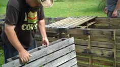 How to make raised beds out of free wood pallets. IMPORTANT NOTE: If you aren't using a perforated liner, or something that allows water to drain, you'll nee...