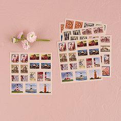 """Global Destinations"" Postage Stamp Sticker Assortment - The Knot Shop"