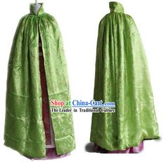 Chinese Classical Green Winter Palace Cape