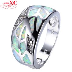 GemMart Jewelry Fashion White Rainbow Fire Opal Ring Men Silver Filled Wedding Zircon Ring RS0108. High Quality Product. High Polished / Fine Workmanship. Never Fade / Scratchproof and Anti - Allergy. Pack with Beautiful Bag as a Gift. Size info is estimate, if concern, Please leave me message.