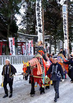 チャグチャグ馬コ初詣・岩手県滝沢村