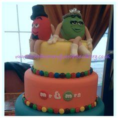 M&Ms inspired wedding cake.