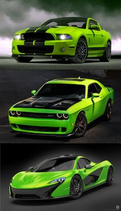 What would you choose ??? #Ford Mustang #Dodge challenger #Mclaren # muscle cars…
