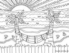 beach coloring pages and so much more - Palm Tree Beach Coloring Page