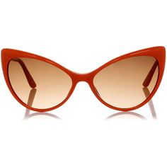 tom ford ANASTASIA cat eye Sunglasses ($180) ❤ liked on Polyvore featuring accessories, eyewear, sunglasses, glasses, orange, cat eye sunnies, tom ford sunnies, logo sunglasses, plastic lens glasses and orange glasses
