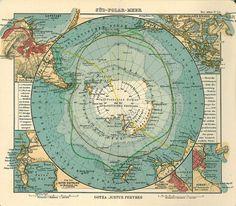 Mapa histórico de la Antártida 1906 - Antártida