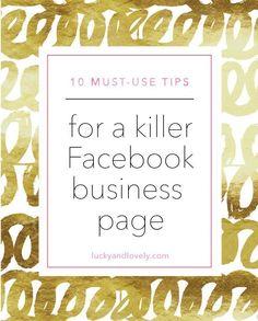 10 Tips for a Killer Facebook Business Page | social  media tips  #RePin by AT Social Media Marketing - Pinterest Marketing Specialists ATSocialMedia.co.uk