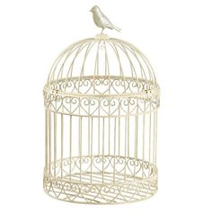 vintage-cream-ivory-wedding-bird-cage-bird__37535_zoom.jpg (JPEG... ❤ liked on Polyvore featuring home, home decor, fillers, birdcages, birds, furniture, cages, vintage birdcage, bird home decor and vintage home accessories