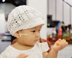 Anjurisa: Slouchy Newsboy Hat from Cre8tion Crochet Crochet hat for daughter
