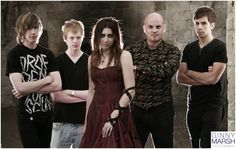 Tainted Grace, band photo shoot