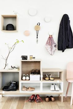 13 Creative Ways To Organise Your Shoes, Inspired By Pinterest via @WhoWhatWearUK