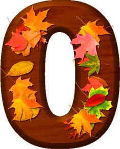 Presentation Alphabets: Cherry Wood Leaves Numeral 0 Monogram Alphabet, Alphabet And Numbers, Cellphone Wallpaper, Mobile Wallpaper, Automatic Crossbow, Fall Fest, Flower Patterns, Hand Lettering, Presentation