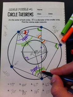 Circle Theorems - Angle Puzzles