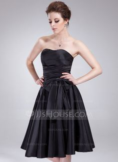 Bridesmaid Dresses - $99.99 - Empire Sweetheart Knee-Length Taffeta Bridesmaid Dress With Ruffle (007018773) http://jjshouse.com/Empire-Sweetheart-Knee-Length-Taffeta-Bridesmaid-Dress-With-Ruffle-007018773-g18773?ver=xdegc7h0