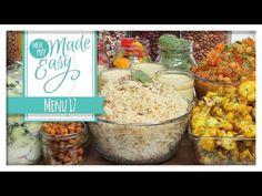 *NEW* Vegetarian Meal Prep Menu 17 | Quinoa Curry, Daal, Mango Lassi Smoothie, Curried Cauliflower - YouTube