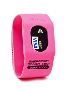 Don't want to bring a purse to the gym with you? Keep your credit card in this handy little sports watch!