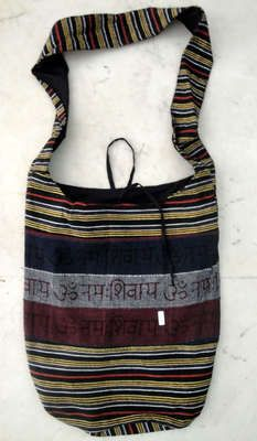 10 Cotton Canvas Om Design Boho Tote Hippie Indian Sling Bags Wholesale Lot