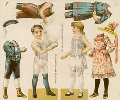 Victorian paper doll_boy & girl