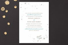 Float + Starry Wedding Invitations by Float Paperie at minted.com