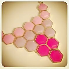 Ombre Hexagon Necklace Set Pink $30 Free US Shipping www.popofchic.com
