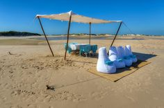 Magical beach picnics at Benguerra Lodge in Mozambique www.africantravel.com #africantravel #mozambique #beach