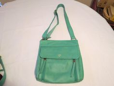 Fossil  SHB1086116 Aspen Traveler Sea Glass Top Zip Leather purse 168.0 NWT^^ #Fossil #ShoulderBag