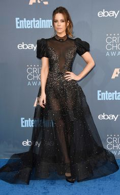 Kate Beckinsale from 22nd Critics' Choice Awards Red Carpet Arrivals  The gorgeous brunette looked something like a sexy princess in this billowing, see-through gown.