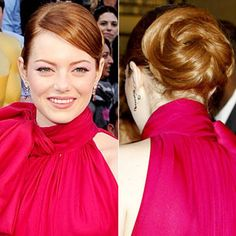 Emma Stone's Pretty updo from the Oscars #Prom