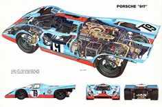 Porsche 917 cutaway © Bruno Betti