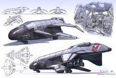 dune Spacecraft explorer spaceship craft hover space Shuttle concept design art artwork by Jett0 by iampariah, via Flickr