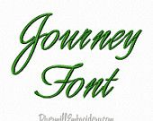 Journey Script Machine Embroidery Font Monogram Alphabet - 3 Sizes