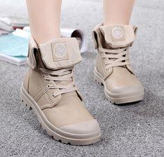 $38.50 (Buy here: https://alitems.com/g/1e8d114494ebda23ff8b16525dc3e8/?i=5&ulp=https%3A%2F%2Fwww.aliexpress.com%2Fitem%2FComfortable-Palladium-Style-Shoes-For-Women-PU-Leather-Lace-Up-Flats-Heels-Waterproof-Black-Military-Ankle%2F32713762814.html ) Comfortable Palladium Style Shoes For Women PU Leather Lace Up Flats Heels Waterproof Black Military Ankle Martin Brand Boots for just $38.50