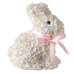 RAZ Imports Glittered Hydrangea Bunny