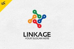 Linkage Logo Template Templates A great logo suitable for automotive, bicycle shop, community, or any business that related to this by Kennarock Business Brochure, Business Card Logo, Custom Logo Design, Custom Logos, Free Logo Templates, Design Templates, Connect Logo, Three Logo, Great Logos