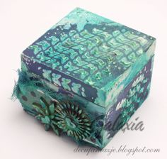 scrapbooking - turquoise and navy