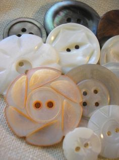 buttons.quenalbertini: Vintage Mother of Pearl Button Collection by Junkin Gypsies | We Heart It via etsy.com/listing/77388819/vintage-mother-of-pearl-button