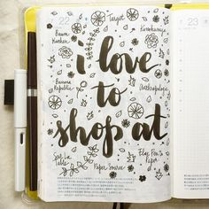 Where do you like to shop (or window shop)? #journal #artjournal #hobonichi #planner #diary #notebook #filofax #mtn #midori #travelersnotebook #midoritravelersnotebook #scrapbooking #stationery #pens #doodles #doodling #type #typography #letters #lettering #handwriting #handlettering #calligraphy #moderncalligraphy #brushpens #brushlettering