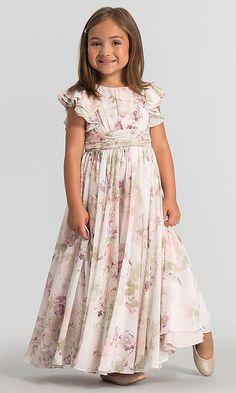 a7e05083e33 Print Flutter-Sleeve Dessy Girl Flower Girl Dress