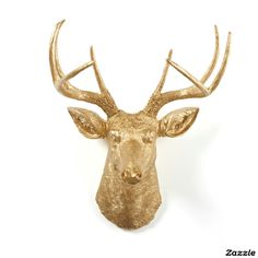 Metallic Gold Wall Décor Stag Deer Head