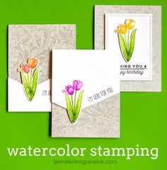 Watercolor Stamping Video by Jennifer McGuire Ink