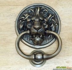 Other Professional Sale Vintage Brass Door Knocker Styled As A Deer.