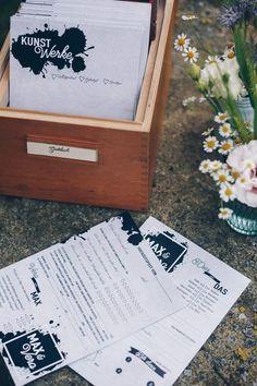 DIY Gästebuchkarten selbermachen zur Hochzeit - über 15 Ideen für Texte, Fragen und Lückentexte für Gästebuchkarten im vintage Karteikartenkasten - DIY Gästebuch Idee - auch wunderschön als Hochzeitsgeschenk - Karten zum Ausfüllen zur Hochzeit #diyhochzeit #gästebuchkarten #gästebuch #diygeschenke Something About You, Own Website, Party Time, Encouragement, Wedding Inspiration, Shit Happens, Period, Blog, Paper Mill