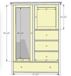 Wardrobe dimensions