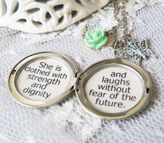 Inspirtional locket quote jewelry necklace for women by akinto