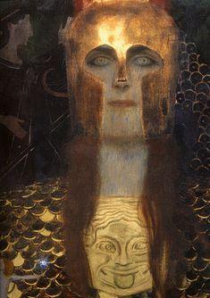 Pallas Athene (detail) by Gustav Klimt, 1898